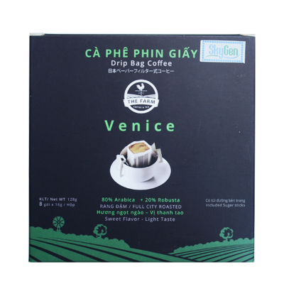 Cà phê phin giấy The Farm Drip Bag Coffee Venice